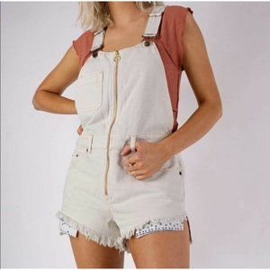 Free People Sunkissed Denim Shortall Short Overall